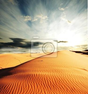 Постер Пейзаж песчаный ПустыняПейзаж песчаный<br>Постер на холсте или бумаге. Любого нужного вам размера. В раме или без. Подвес в комплекте. Трехслойная надежная упаковка. Доставим в любую точку России. Вам осталось только повесить картину на стену!<br>