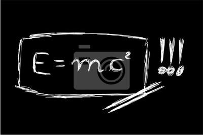Постер Теория относительности эскизФормула Эйнштейна<br>Постер на холсте или бумаге. Любого нужного вам размера. В раме или без. Подвес в комплекте. Трехслойная надежная упаковка. Доставим в любую точку России. Вам осталось только повесить картину на стену!<br>
