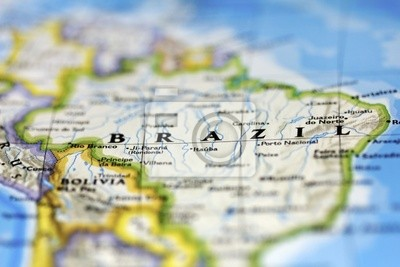 Постер Бразилия Бразилия на КартеБразилия<br>Постер на холсте или бумаге. Любого нужного вам размера. В раме или без. Подвес в комплекте. Трехслойная надежная упаковка. Доставим в любую точку России. Вам осталось только повесить картину на стену!<br>