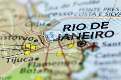 Постер Бразилия Рио-де-Жанейро на КартеБразилия<br>Постер на холсте или бумаге. Любого нужного вам размера. В раме или без. Подвес в комплекте. Трехслойная надежная упаковка. Доставим в любую точку России. Вам осталось только повесить картину на стену!<br>