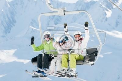 Подъемник - счастлив лыжников на горнолыжный отдых, 30x20 см, на бумагеГорные лыжи<br>Постер на холсте или бумаге. Любого нужного вам размера. В раме или без. Подвес в комплекте. Трехслойная надежная упаковка. Доставим в любую точку России. Вам осталось только повесить картину на стену!<br>