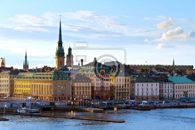 Постер Стокгольм Исторический район СтокгольмаСтокгольм<br>Постер на холсте или бумаге. Любого нужного вам размера. В раме или без. Подвес в комплекте. Трехслойная надежная упаковка. Доставим в любую точку России. Вам осталось только повесить картину на стену!<br>