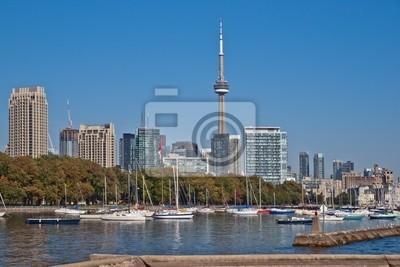 Постер Торонто Торонто высотных городской пейзаж панорама CN Tower роскошный кондоминиумТоронто<br>Постер на холсте или бумаге. Любого нужного вам размера. В раме или без. Подвес в комплекте. Трехслойная надежная упаковка. Доставим в любую точку России. Вам осталось только повесить картину на стену!<br>