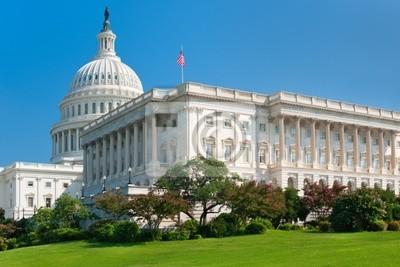 Постер Вашингтон США КапитолийВашингтон<br>Постер на холсте или бумаге. Любого нужного вам размера. В раме или без. Подвес в комплекте. Трехслойная надежная упаковка. Доставим в любую точку России. Вам осталось только повесить картину на стену!<br>