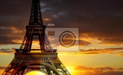 Эйфелева башня, Париж, 33x20 см, на бумагеЗакаты<br>Постер на холсте или бумаге. Любого нужного вам размера. В раме или без. Подвес в комплекте. Трехслойная надежная упаковка. Доставим в любую точку России. Вам осталось только повесить картину на стену!<br>