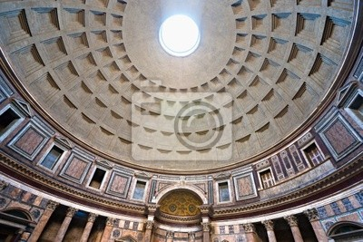 Постер Рим Внутри Pantheon, Рим, Италия.Рим<br>Постер на холсте или бумаге. Любого нужного вам размера. В раме или без. Подвес в комплекте. Трехслойная надежная упаковка. Доставим в любую точку России. Вам осталось только повесить картину на стену!<br>