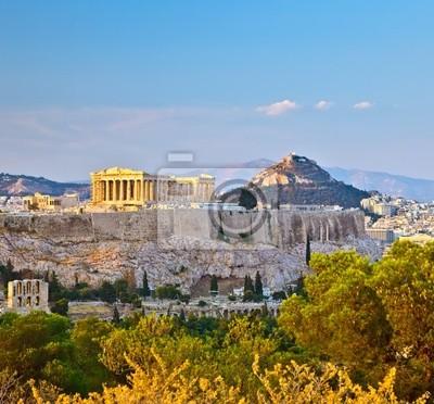 Постер Греция Вид на Акрополь в АфинахГреция<br>Постер на холсте или бумаге. Любого нужного вам размера. В раме или без. Подвес в комплекте. Трехслойная надежная упаковка. Доставим в любую точку России. Вам осталось только повесить картину на стену!<br>