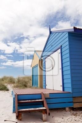 Постер Мельбурн Красочные beach houseМельбурн<br>Постер на холсте или бумаге. Любого нужного вам размера. В раме или без. Подвес в комплекте. Трехслойная надежная упаковка. Доставим в любую точку России. Вам осталось только повесить картину на стену!<br>