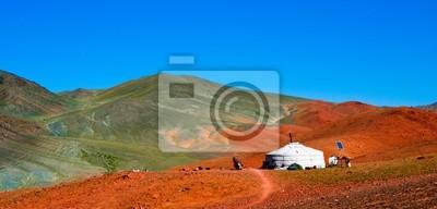 Постер Страны Монгольская Юрта в горах, 42x20 см, на бумагеМонголия<br>Постер на холсте или бумаге. Любого нужного вам размера. В раме или без. Подвес в комплекте. Трехслойная надежная упаковка. Доставим в любую точку России. Вам осталось только повесить картину на стену!<br>