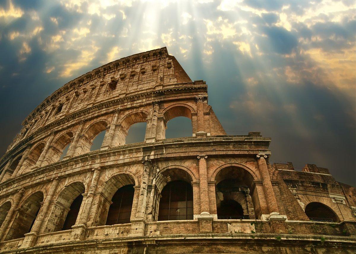 Постер Города и карты Большой Колизей в Риме, 28x20 см, на бумагеРим<br>Постер на холсте или бумаге. Любого нужного вам размера. В раме или без. Подвес в комплекте. Трехслойная надежная упаковка. Доставим в любую точку России. Вам осталось только повесить картину на стену!<br>