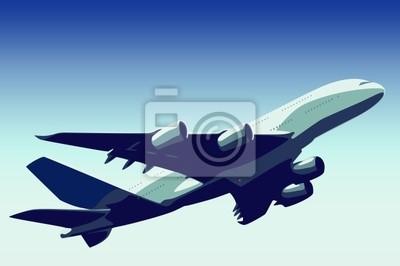 Пассажирский реактивный самолет взлетает, 30x20 см, на бумаге02.08 День Аэрофлота<br>Постер на холсте или бумаге. Любого нужного вам размера. В раме или без. Подвес в комплекте. Трехслойная надежная упаковка. Доставим в любую точку России. Вам осталось только повесить картину на стену!<br>