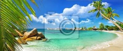Постер Пейзаж морской Тропический рай - Сейшельские островаПейзаж морской<br>Постер на холсте или бумаге. Любого нужного вам размера. В раме или без. Подвес в комплекте. Трехслойная надежная упаковка. Доставим в любую точку России. Вам осталось только повесить картину на стену!<br>