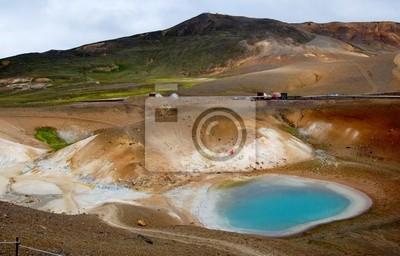 Постер Вулканы Вулканический район, Вити озера в ИсландииВулканы<br>Постер на холсте или бумаге. Любого нужного вам размера. В раме или без. Подвес в комплекте. Трехслойная надежная упаковка. Доставим в любую точку России. Вам осталось только повесить картину на стену!<br>