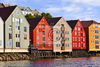 Постер Норвегия Пейзажем Тронхейм, НорвегияНорвегия<br>Постер на холсте или бумаге. Любого нужного вам размера. В раме или без. Подвес в комплекте. Трехслойная надежная упаковка. Доставим в любую точку России. Вам осталось только повесить картину на стену!<br>