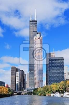 Постер Города и карты Chicago downtown skyline, 20x30 см, на бумагеЧикаго<br>Постер на холсте или бумаге. Любого нужного вам размера. В раме или без. Подвес в комплекте. Трехслойная надежная упаковка. Доставим в любую точку России. Вам осталось только повесить картину на стену!<br>