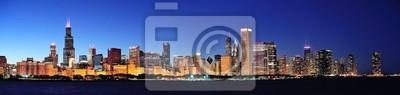 Постер Чикаго Чикаго ночь панорамаЧикаго<br>Постер на холсте или бумаге. Любого нужного вам размера. В раме или без. Подвес в комплекте. Трехслойная надежная упаковка. Доставим в любую точку России. Вам осталось только повесить картину на стену!<br>