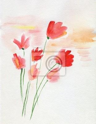 Постер Маки Аннотация цветыМаки<br>Постер на холсте или бумаге. Любого нужного вам размера. В раме или без. Подвес в комплекте. Трехслойная надежная упаковка. Доставим в любую точку России. Вам осталось только повесить картину на стену!<br>