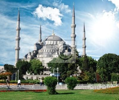 Постер Стамбул В Голубой Мечети (Султанахмет Камии), Стамбул, ТурцияСтамбул<br>Постер на холсте или бумаге. Любого нужного вам размера. В раме или без. Подвес в комплекте. Трехслойная надежная упаковка. Доставим в любую точку России. Вам осталось только повесить картину на стену!<br>