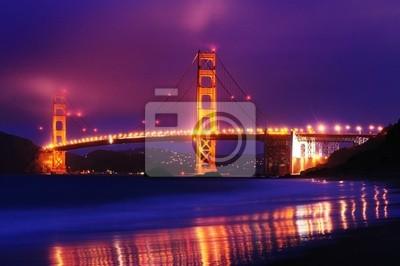 Постер Сан-Франциско Мост золотые ворота отСан-Франциско<br>Постер на холсте или бумаге. Любого нужного вам размера. В раме или без. Подвес в комплекте. Трехслойная надежная упаковка. Доставим в любую точку России. Вам осталось только повесить картину на стену!<br>