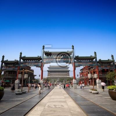 Постер Пекин Qianmen в Пекине улицеПекин<br>Постер на холсте или бумаге. Любого нужного вам размера. В раме или без. Подвес в комплекте. Трехслойная надежная упаковка. Доставим в любую точку России. Вам осталось только повесить картину на стену!<br>