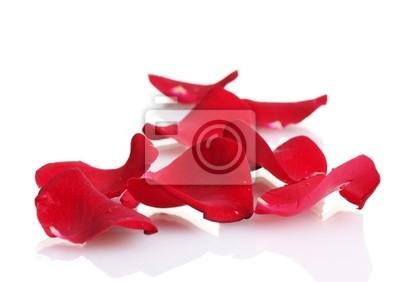 Прекрасные лепестки Красной розы, изолированных на белом, 28x20 см, на бумагеРозы<br>Постер на холсте или бумаге. Любого нужного вам размера. В раме или без. Подвес в комплекте. Трехслойная надежная упаковка. Доставим в любую точку России. Вам осталось только повесить картину на стену!<br>