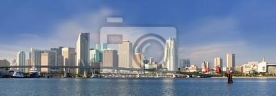 Майами, Флорида панорама зданий Центральной части города, 57x20 см, на бумагеМайами<br>Постер на холсте или бумаге. Любого нужного вам размера. В раме или без. Подвес в комплекте. Трехслойная надежная упаковка. Доставим в любую точку России. Вам осталось только повесить картину на стену!<br>