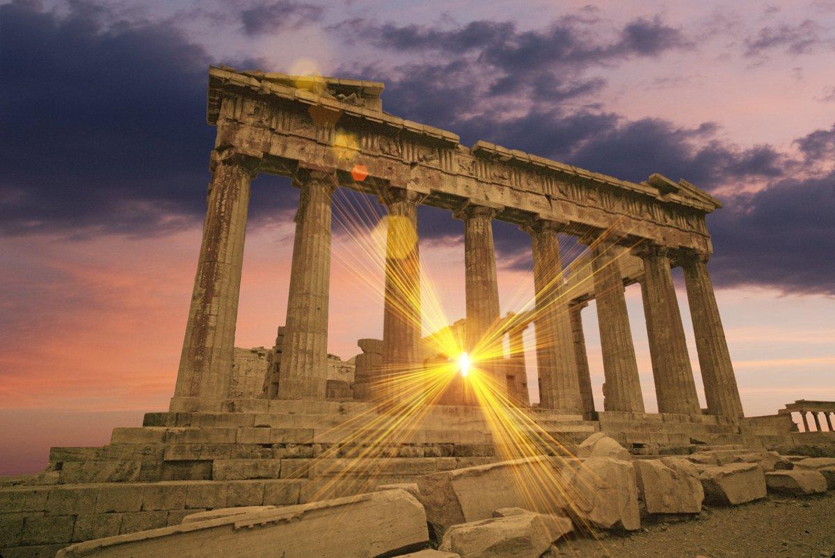 Постер Греция Парфенон греческий храм на закате на АкрополеГреция<br>Постер на холсте или бумаге. Любого нужного вам размера. В раме или без. Подвес в комплекте. Трехслойная надежная упаковка. Доставим в любую точку России. Вам осталось только повесить картину на стену!<br>