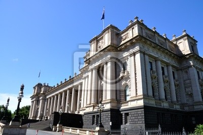 Здание Парламента Мельбурн, Австралия, 30x20 см, на бумагеМельбурн<br>Постер на холсте или бумаге. Любого нужного вам размера. В раме или без. Подвес в комплекте. Трехслойная надежная упаковка. Доставим в любую точку России. Вам осталось только повесить картину на стену!<br>