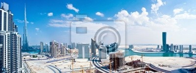 Постер ОАЭ Панорамное изображение город ДубайОАЭ<br>Постер на холсте или бумаге. Любого нужного вам размера. В раме или без. Подвес в комплекте. Трехслойная надежная упаковка. Доставим в любую точку России. Вам осталось только повесить картину на стену!<br>