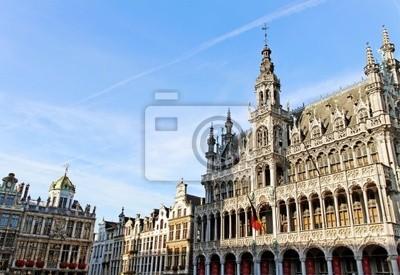 Постер Брюссель Брюссель grand place здания.Брюссель<br>Постер на холсте или бумаге. Любого нужного вам размера. В раме или без. Подвес в комплекте. Трехслойная надежная упаковка. Доставим в любую точку России. Вам осталось только повесить картину на стену!<br>