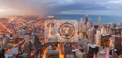 Постер Города и карты Chicago downtown воздушных панорама, 42x20 см, на бумагеЧикаго<br>Постер на холсте или бумаге. Любого нужного вам размера. В раме или без. Подвес в комплекте. Трехслойная надежная упаковка. Доставим в любую точку России. Вам осталось только повесить картину на стену!<br>