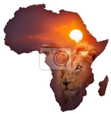 Постер Львы Дикой Африки КартуЛьвы<br>Постер на холсте или бумаге. Любого нужного вам размера. В раме или без. Подвес в комплекте. Трехслойная надежная упаковка. Доставим в любую точку России. Вам осталось только повесить картину на стену!<br>