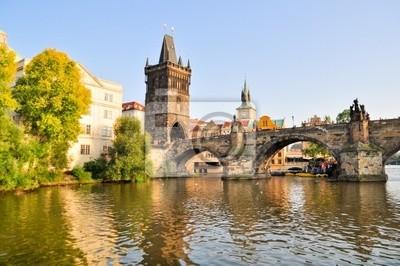 Постер Прага Мост в ПрагеПрага<br>Постер на холсте или бумаге. Любого нужного вам размера. В раме или без. Подвес в комплекте. Трехслойная надежная упаковка. Доставим в любую точку России. Вам осталось только повесить картину на стену!<br>