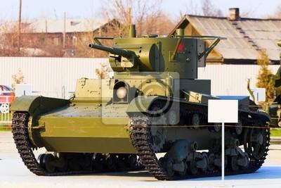 Постер Праздники Советский танк модели Т-26, 30x20 см, на бумаге09.08 День танкиста<br>Постер на холсте или бумаге. Любого нужного вам размера. В раме или без. Подвес в комплекте. Трехслойная надежная упаковка. Доставим в любую точку России. Вам осталось только повесить картину на стену!<br>