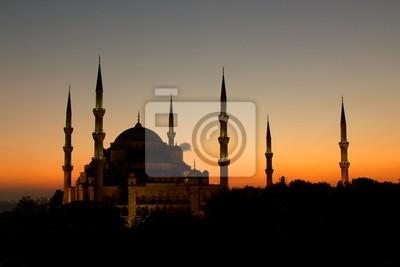 Постер Стамбул На Прекрасные Голубой Мечети в Стамбуле, ТурцияСтамбул<br>Постер на холсте или бумаге. Любого нужного вам размера. В раме или без. Подвес в комплекте. Трехслойная надежная упаковка. Доставим в любую точку России. Вам осталось только повесить картину на стену!<br>