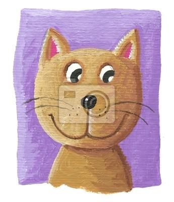 Постер Кошки Милый кот на фиолетовом фонеКошки<br>Постер на холсте или бумаге. Любого нужного вам размера. В раме или без. Подвес в комплекте. Трехслойная надежная упаковка. Доставим в любую точку России. Вам осталось только повесить картину на стену!<br>