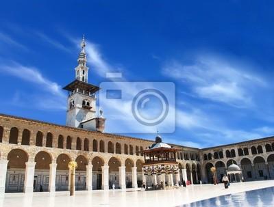 Постер Сирия Сирия. Дамаск. Omayyad Мечеть (большая Мечеть Дамаска)Сирия<br>Постер на холсте или бумаге. Любого нужного вам размера. В раме или без. Подвес в комплекте. Трехслойная надежная упаковка. Доставим в любую точку России. Вам осталось только повесить картину на стену!<br>
