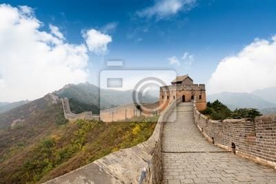 Постер Пекин Великая стена с голубым небом фонаПекин<br>Постер на холсте или бумаге. Любого нужного вам размера. В раме или без. Подвес в комплекте. Трехслойная надежная упаковка. Доставим в любую точку России. Вам осталось только повесить картину на стену!<br>