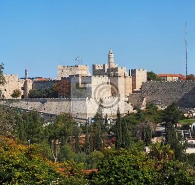 Постер Иерусалим Древняя крепость и Башня Давида в ИерусалимеИерусалим<br>Постер на холсте или бумаге. Любого нужного вам размера. В раме или без. Подвес в комплекте. Трехслойная надежная упаковка. Доставим в любую точку России. Вам осталось только повесить картину на стену!<br>