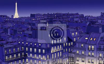 Постер Современный городской пейзаж Крышами в ПарижеСовременный городской пейзаж<br>Постер на холсте или бумаге. Любого нужного вам размера. В раме или без. Подвес в комплекте. Трехслойная надежная упаковка. Доставим в любую точку России. Вам осталось только повесить картину на стену!<br>