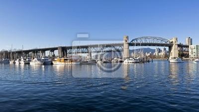 Постер Ванкувер Burrard мост ВанкувереВанкувер<br>Постер на холсте или бумаге. Любого нужного вам размера. В раме или без. Подвес в комплекте. Трехслойная надежная упаковка. Доставим в любую точку России. Вам осталось только повесить картину на стену!<br>