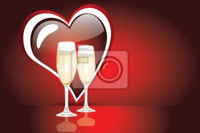Красный Валентина сердце и два праздновать очки, 30x20 см, на бумаге02.14 День Святого Валентина (День всех влюбленных)<br>Постер на холсте или бумаге. Любого нужного вам размера. В раме или без. Подвес в комплекте. Трехслойная надежная упаковка. Доставим в любую точку России. Вам осталось только повесить картину на стену!<br>