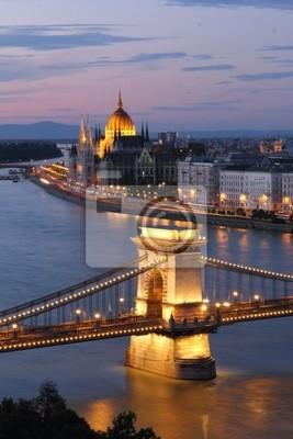Постер Будапешт Венгрия, Цепной Мост и реку Дунай в Будапеште в ночьБудапешт<br>Постер на холсте или бумаге. Любого нужного вам размера. В раме или без. Подвес в комплекте. Трехслойная надежная упаковка. Доставим в любую точку России. Вам осталось только повесить картину на стену!<br>