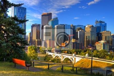 Постер Канада HDR Города Калгари Skyline на РассветеКанада<br>Постер на холсте или бумаге. Любого нужного вам размера. В раме или без. Подвес в комплекте. Трехслойная надежная упаковка. Доставим в любую точку России. Вам осталось только повесить картину на стену!<br>