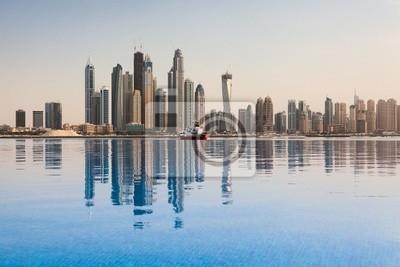 Постер Дубай Бизнес-районе ДубаяДубай<br>Постер на холсте или бумаге. Любого нужного вам размера. В раме или без. Подвес в комплекте. Трехслойная надежная упаковка. Доставим в любую точку России. Вам осталось только повесить картину на стену!<br>