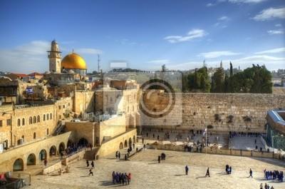 Постер Израиль Старый Город в Иерусалиме у Стены Плача и Купол СкалыИзраиль<br>Постер на холсте или бумаге. Любого нужного вам размера. В раме или без. Подвес в комплекте. Трехслойная надежная упаковка. Доставим в любую точку России. Вам осталось только повесить картину на стену!<br>
