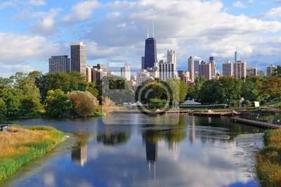 Постер Чикаго Чикаго skylineЧикаго<br>Постер на холсте или бумаге. Любого нужного вам размера. В раме или без. Подвес в комплекте. Трехслойная надежная упаковка. Доставим в любую точку России. Вам осталось только повесить картину на стену!<br>