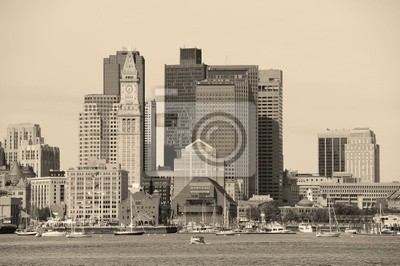 Постер Бостон Бостон архитектуры в черном и беломБостон<br>Постер на холсте или бумаге. Любого нужного вам размера. В раме или без. Подвес в комплекте. Трехслойная надежная упаковка. Доставим в любую точку России. Вам осталось только повесить картину на стену!<br>