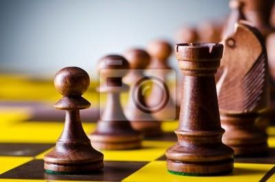 Концепция шахматной игры с кусочками, 30x20 см, на бумагеШахматы<br>Постер на холсте или бумаге. Любого нужного вам размера. В раме или без. Подвес в комплекте. Трехслойная надежная упаковка. Доставим в любую точку России. Вам осталось только повесить картину на стену!<br>