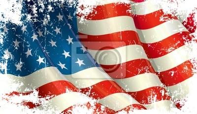 Постер Американский Флаг Гранж, 34x20 см, на бумагеФлаг США<br>Постер на холсте или бумаге. Любого нужного вам размера. В раме или без. Подвес в комплекте. Трехслойная надежная упаковка. Доставим в любую точку России. Вам осталось только повесить картину на стену!<br>